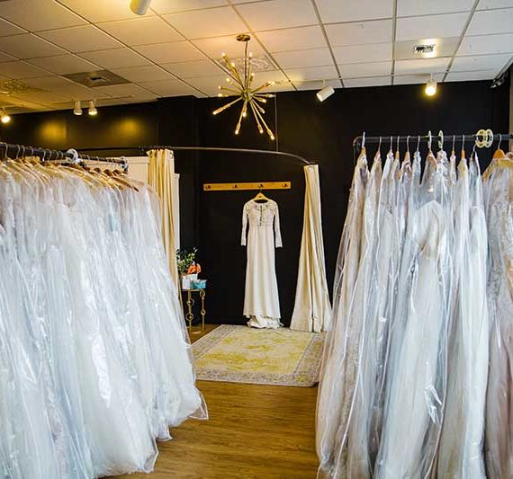 blue sky bridal dresses in store